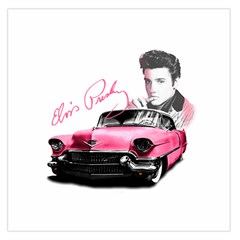Elvis Presley s Pink Cadillac Large Satin Scarf (square) by Valentinaart