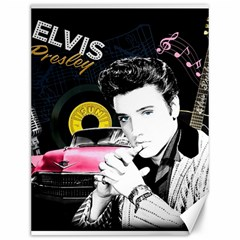 Elvis Presley Collage Canvas 12  X 16   by Valentinaart