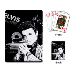 Elvis Presley Collage Playing Card by Valentinaart