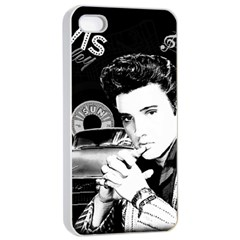 Elvis Presley Collage Apple Iphone 4/4s Seamless Case (white) by Valentinaart