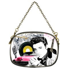 Elvis Presley Collage Chain Purses (one Side)  by Valentinaart