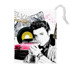 Elvis Presley Collage Drawstring Pouches (extra Large) by Valentinaart