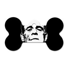 Frankenstein s Monster Halloween Dog Tag Bone (one Side) by Valentinaart