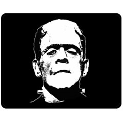 Frankenstein s Monster Halloween Fleece Blanket (medium)  by Valentinaart