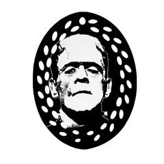Frankenstein s Monster Halloween Ornament (oval Filigree) by Valentinaart