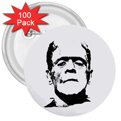 Frankenstein s Monster Halloween 3  Buttons (100 Pack)  by Valentinaart