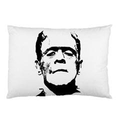 Frankenstein s Monster Halloween Pillow Case by Valentinaart