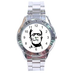 Frankenstein s Monster Halloween Stainless Steel Analogue Watch by Valentinaart