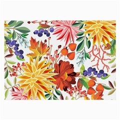 Autumn Flowers Pattern 1 Large Glasses Cloth by tarastyle