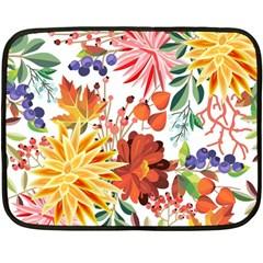 Autumn Flowers Pattern 1 Fleece Blanket (mini) by tarastyle