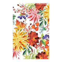 Autumn Flowers Pattern 1 Shower Curtain 48  X 72  (small)  by tarastyle