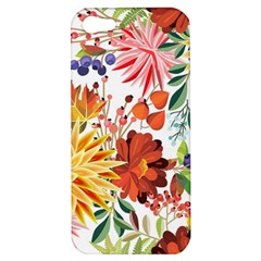 Autumn Flowers Pattern 1 Apple Iphone 5 Hardshell Case by tarastyle