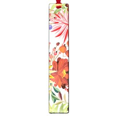 Autumn Flowers Pattern 1 Large Book Marks by tarastyle