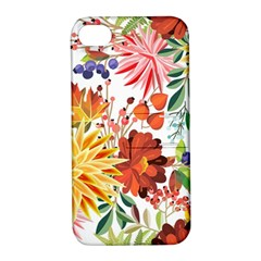 Autumn Flowers Pattern 1 Apple Iphone 4/4s Hardshell Case With Stand by tarastyle