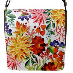 Autumn Flowers Pattern 1 Flap Messenger Bag (s) by tarastyle