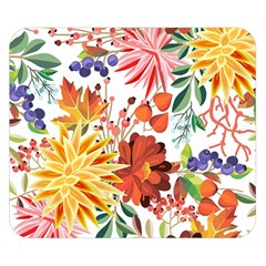 Autumn Flowers Pattern 1 Double Sided Flano Blanket (small)  by tarastyle