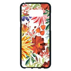 Autumn Flowers Pattern 1 Samsung Galaxy S8 Plus Black Seamless Case by tarastyle