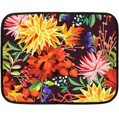 Autumn Flowers Pattern 2 Double Sided Fleece Blanket (mini)  by tarastyle