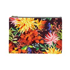 Autumn Flowers Pattern 2 Cosmetic Bag (large)  by tarastyle