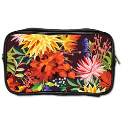 Autumn Flowers Pattern 2 Toiletries Bags 2 Side by tarastyle