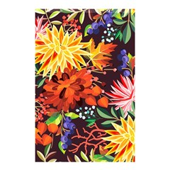 Autumn Flowers Pattern 2 Shower Curtain 48  X 72  (small)  by tarastyle