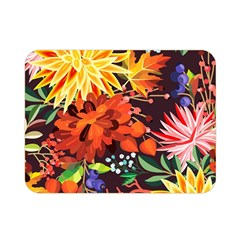 Autumn Flowers Pattern 2 Double Sided Flano Blanket (mini)  by tarastyle