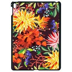 Autumn Flowers Pattern 2 Apple Ipad Pro 9 7   Black Seamless Case by tarastyle