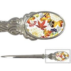 Autumn Flowers Pattern 3 Letter Openers by tarastyle