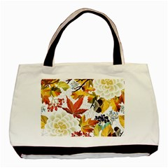Autumn Flowers Pattern 3 Basic Tote Bag by tarastyle