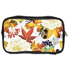 Autumn Flowers Pattern 3 Toiletries Bags by tarastyle