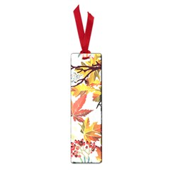 Autumn Flowers Pattern 3 Small Book Marks by tarastyle