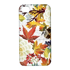 Autumn Flowers Pattern 3 Apple Iphone 4/4s Hardshell Case With Stand by tarastyle