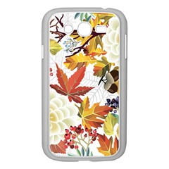 Autumn Flowers Pattern 3 Samsung Galaxy Grand Duos I9082 Case (white) by tarastyle