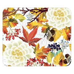 Autumn Flowers Pattern 3 Double Sided Flano Blanket (small)  by tarastyle