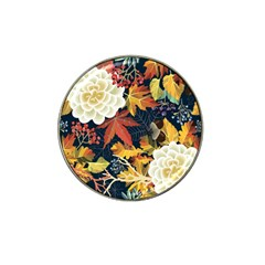 Autumn Flowers Pattern 4 Hat Clip Ball Marker (10 Pack) by tarastyle