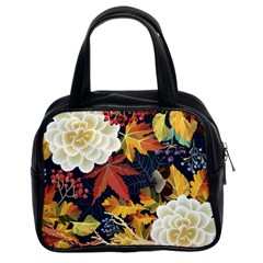 Autumn Flowers Pattern 4 Classic Handbags (2 Sides) by tarastyle