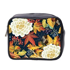 Autumn Flowers Pattern 4 Mini Toiletries Bag 2 Side by tarastyle