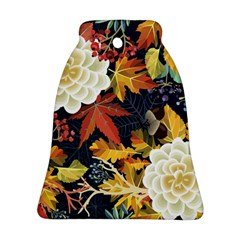 Autumn Flowers Pattern 4 Ornament (bell) by tarastyle