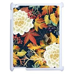 Autumn Flowers Pattern 4 Apple Ipad 2 Case (white) by tarastyle