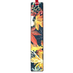Autumn Flowers Pattern 4 Large Book Marks by tarastyle