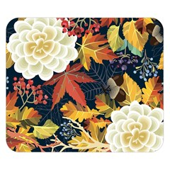 Autumn Flowers Pattern 4 Double Sided Flano Blanket (small)  by tarastyle