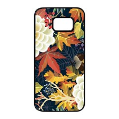 Autumn Flowers Pattern 4 Samsung Galaxy S7 Edge Black Seamless Case by tarastyle
