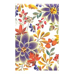 Autumn Flowers Pattern 5 Shower Curtain 48  X 72  (small)  by tarastyle