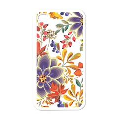 Autumn Flowers Pattern 5 Apple Iphone 4 Case (white) by tarastyle