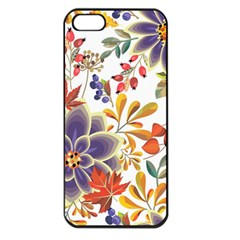 Autumn Flowers Pattern 5 Apple Iphone 5 Seamless Case (black) by tarastyle