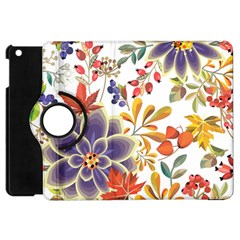 Autumn Flowers Pattern 5 Apple Ipad Mini Flip 360 Case by tarastyle