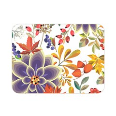 Autumn Flowers Pattern 5 Double Sided Flano Blanket (mini)  by tarastyle