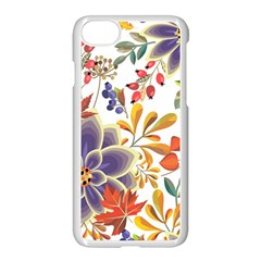 Autumn Flowers Pattern 5 Apple Iphone 7 Seamless Case (white) by tarastyle