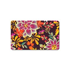 Autumn Flowers Pattern 6 Magnet (name Card) by tarastyle