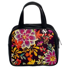 Autumn Flowers Pattern 6 Classic Handbags (2 Sides) by tarastyle